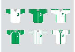 Vecteurs de maillots de baseball