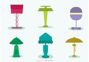 Vecteurs de lampes modernes