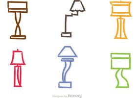 Vectores modernos coloridos de la lámpara