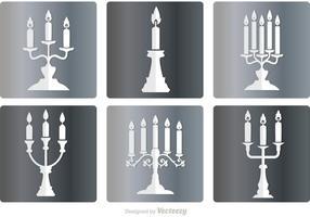 Silver Candlesticks Vector