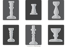 Various Silver Candlesticks Vector