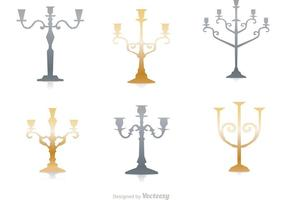 Silver And Gold Candlesticks Vector