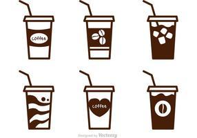 Vettori di caffè ghiacciato