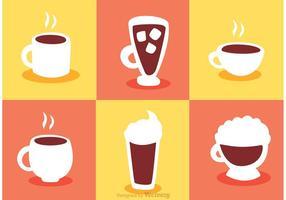 Kaffe ikoner vektorer