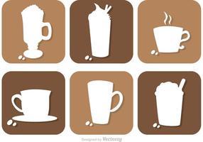 Vettori di Silhouette di bere caffè