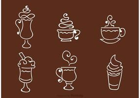 Coffee Outline Icons Vector