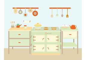 Utensilios de cocina y vectores de equipos