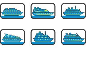 Free vector cruise liner icons