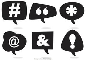 Social media speech bubble vectors