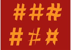 Vetores simples de Hashtag