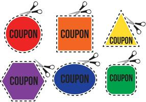 Bright Scissors Coupon Vectoren