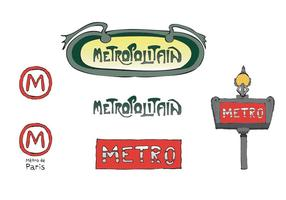 Gratis Parijs Metro Vector Series