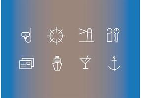 Cruise Liner Vector Icons