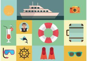 Cruise Liner Vector Elementen