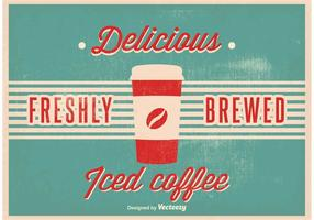 Vintage iced kaffe vektor illustration