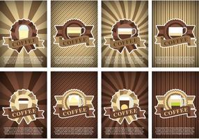 Vectores del cartel del café