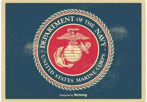 Weinlese US Marine Corps Seal