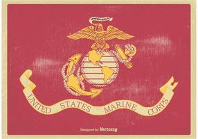 US Marine Corps Flagga Vektor Illustration