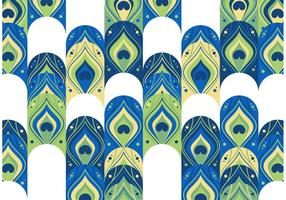 Peacock Pattern Free Vector