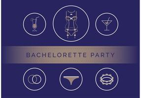 Bachelorette Party Vector Set