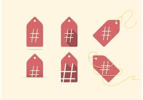 HASH (precio) TAG Hashtag Vectores