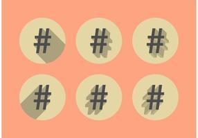 Vetores de sombra de Hashtag