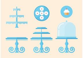 Cupcake Stand Vector Set