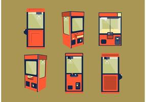 Claw Machine Vector Set