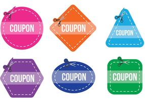 Scissors Coupon Vector