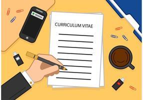 Lesen eines Curriculums Vitae Vektor