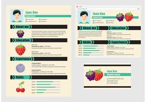 Vektor curriculum vitae organisk bonde