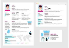 Vector Curriculum Vitae Diseñador Gráfico