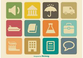 Miscellaneous Vintage Icon Set vector