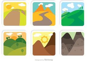 Collectie Van Rollende Heuvels Vectoren