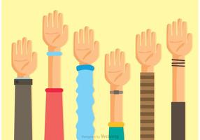 Collection Of Hands Vectors