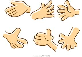 Hand Cartoon Set Vektor