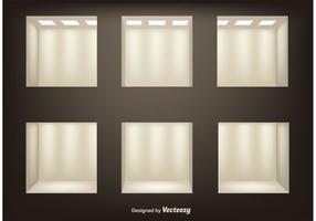 Realistic 3D Shelves Vectors