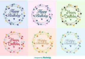 Happy Birthday Wreath Vectors
