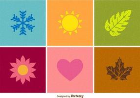 Free Vector Seasonal Textured Flat Icons