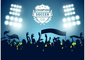 Vector libre del cartel del fútbol del fútbol
