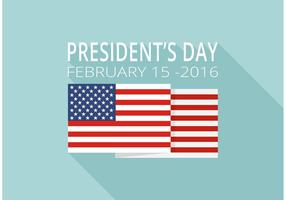 Freie Präsidenten Tag Vektor Hintergrund