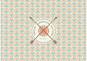 Gratis Native American Seamless Pattern Vector