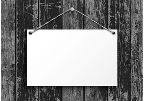 Gratis Hängande Blanco Pappersplatta Vector