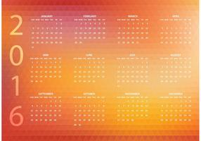 Vector libre abstracto 2016 calendario poligonal