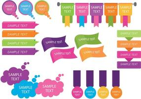 Colorful Text Box Template Vectors
