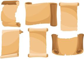 Scrolled papier vector