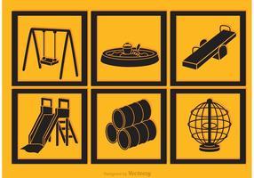 Playground Black Icons Vectors