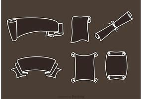 Gerolde papiervectoren