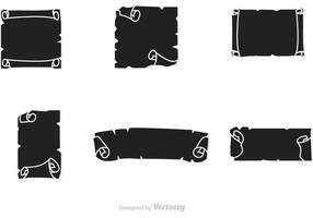Zwarte Scrolled Paper Vector
