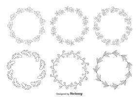 Decorative Floral Frames vector